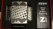 Zippo 360 Design Antique Silver Game Cheat Code Up Down Back