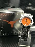 Texas Longhorns Ncaa Stainless Steel Relic Watch By Fossil New Rare