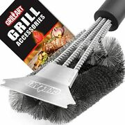 Grill Brush And Scraper Extra Strong Bbq Cleaner Accessories Safe Wire