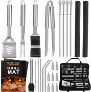 26pcs Outdoor Barbecue Grill Accessories Set Stainless Steel Bbq Grill Tools
