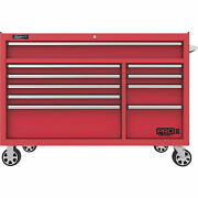 Homak 54in Pro Ii 10-drawer Rolling Tool Cabinet 18,016 Cu In Of Storage Red