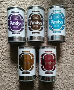 5 Andy's S/s Beer Cans August Schell Brewing Co. New Ulm Minnesota