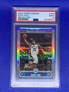 2006 Topps Chrome Refractor Rudy Gay Rookie Psa 9 Mint 184 2/199