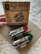 Vintage Nos Allan Marine Battery-operated Boat Bow Light Red Green