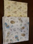 Vintage Precious Moments Cotton Fabric Nursery Sewing 5 Yards Total