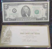 3 Consec. 2003 2 Dollar Bills, Federal Reserve Note, Money Gift Or Collection