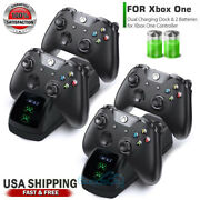For Xbox One Controller Play Dual Charging Dock+2x Rechargeable Battery Pack