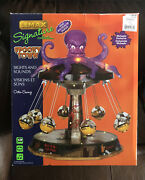 Rare Retired Lemax Spooky Town 2011 Octo-swing Halloween Carnival Ride
