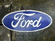 Porcelain Ford Sign 13 X 30 Inch