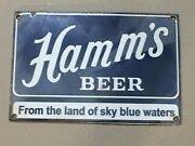 Porcelain Hamms Beer Sign Size 12 X 8 Pre-owned