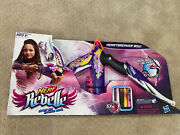Nerf Rebelle Heartbreaker Bow Purple Flame Design With Darts