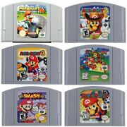 Mario Party 1 2 3 Video Games Cartridge Console Card For Nintendo N64 Us Version