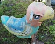 Vintage Play Ground Toy Bird Spring Loaded Retro Collectible
