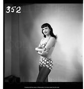 Fantastic 1954 Bettie Page Negative Photograph Pin-up Robert Stanton Great