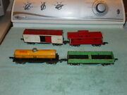 Lot Of 4 Vintage American Flyer O Scale Pre-war Tin Freight Cars
