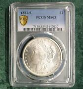 1881 S Pcgs Ms 63 Silver Morgan Dollar Certified Ms 63 Silver 1 Coin Flashy