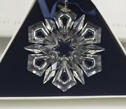 Crystal 1999 Annual Star Snowflake Christmas Ornament New In Box