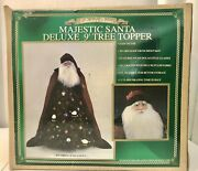 Collectors Choice Majestic Santa Deluxe 9andrsquo Christmas Tree Topper Sheep Fur Robe