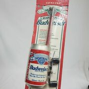 Vintage Johnson Budweiser Can 5andrsquo Fishing Rod Pole Reel Combo 1995 Bud Sealed