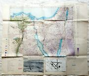 Wwii 1944 512 Field Survey Engineers M.t. Route Map Cairo Almaza Restricted Air