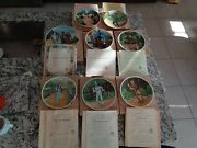 Complete Set Of 8 Knowles 1979 Wizard Of Oz Collector Plates W Coa And Boxes