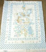 Dbl Sided Pre-quilted Nursery Rhymes Baby Toys Print Cotton Craft Panel,cribs