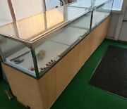 4 Pcs Glass Table Top Store Display Cases With Locks And Keys