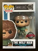 In Hand Funko Pop Universal Monsters The Wolf Man 1153 Special Edition Exclusiv