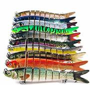 10pcs Fishing Lures For Bass Trout 4 Multi Jointed Swimbaits Slow Sinking Bi...