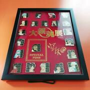 Great Gintama Exhibition Limited Framed Pin Badge Set Japanese Anime F/s New