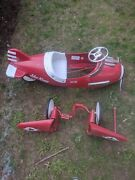 Vintage Air-flow Sky-king Pedal Airplane Pedal Car Will Ship