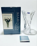 """Magnificent New In Box 10"""" Tall Vintage Marquis Waterford Crystal Flower Vase"""
