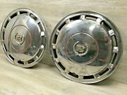 2 Cadillac Chrome Wheel Covers 15 Hubcaps Oem 1989 1990