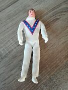Vintage 1970and039s Evel Knievel Bendy Figure Toy No Helmet Nice Condition Suit Okay