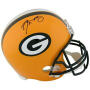 Aaron Rodgers Green Bay Packers Signed Full Size Replica Football Helmet