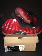New Ds 2012 Nike Air Foamposite One Metallic Red 314996-610 Size 12
