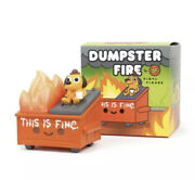 100 Soft Dumpster Fire This Is Fine Vinyl Figure Sold Out Ships Asap