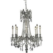 Asfour Crystal Chandelier Pewter Quality Dining Living Room Lighting 8 Light 30