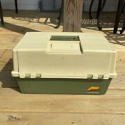 Vintage Plano 8606 Tackle Box 2 Sided 6 Tray Locking Made In Usa