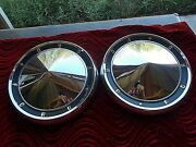 1960and039s 62 63 64 65 61 Ford Small Poverty Dog Dish Hub Caps Pair Muscle Car