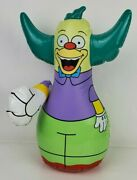 """The Simpsons Krusty The Clown 18"""" Inflatable Bop Bag Blow-up Rocket Usa 2002"""