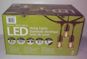 New Open Box Feit Electric 48' Led Outdoor String Lights Commercial Grade -black