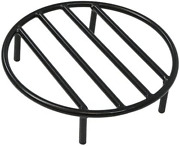 Sunnydaze Fire Pit Grate - Heavy-duty Steel - Round Firewood Grate For Outdoor F