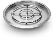 Stanbroil Stainless Steel Round Drop-in Fire Pit Pan With 18 Burner Ring 25-in