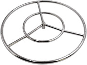 Skyflame 18-inch Round Fire Pit Burner Ring For Natural Gas/propane Fire Pit 30
