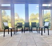 Set Of 5 Cassina Cab Chairs Leather Chairs Design Mario Bellini Italy 1976