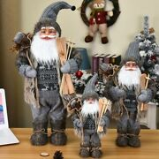 Christmas Decorations Santa Claus For Home New Year Gift Toys Window Ornaments