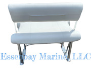 Complete Tidewater Style Parallel Swing Back Anodized Leaning Post Mystic White
