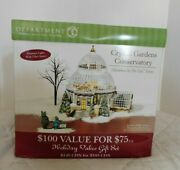 Dept 56 - Christmas In The City Crystal Gardens Conservatory - New In Box