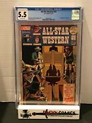 All Star Western 10 Cgc 5.5 1st App Of Jonah Hex Ow Pages Dc 1972